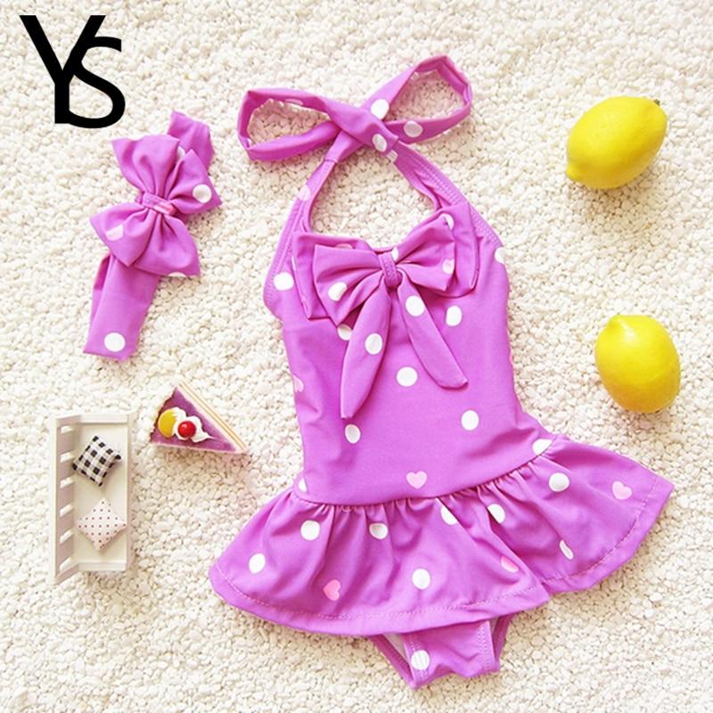 1-8T One Pieces Set With Hat Infantil Baby Girls Swimwear Kids girls Beach Swimming Suit Girls Swimsuit  junior girls swimsuit<br><br>Aliexpress