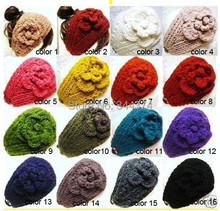 New 2014 Classical style and handmade knitted women or kids head bands/crochet flower hairwear,can mixed10 pcs/lot Free shipping