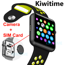 Bluetooth smart watch Sim card Camera smartwatch case for apple iphone samsung xiaomi android phone pk apple watch IWO 2 3 4(China)