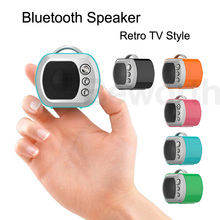 Mini Bluetooth Speaker Cute Retro TV Speakers Wireless Portable Sound Box TF Card MP3 Player Xmas Gift for Kids Outdoor Boombox(China)