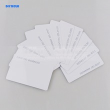 DIYSECUR 10pcs 125Khz RFID ID Card 0.8mm For Access Control And Time Clock Use(China)