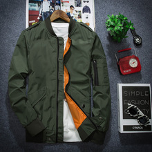 2016 New Autumn MA-1 Pilot jacket Men High Quality Thin Style Air Force Military Men Jacket Asia Size,Army Green,Black,Blue