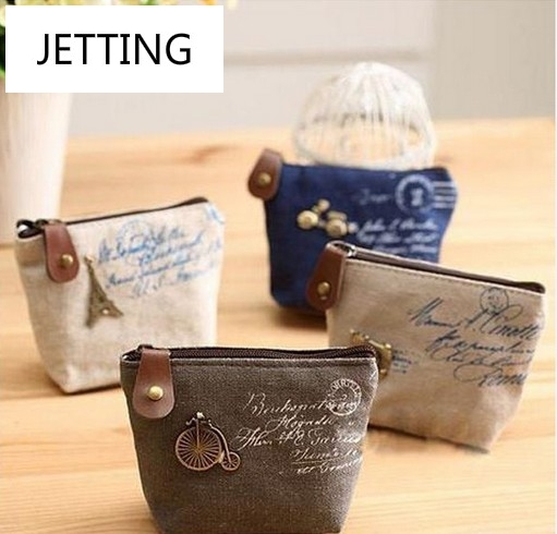 Christmas Gift New 2015 fashion Vintage Zipper Coin Purse wallets Mini bag Cheap Retro Classic Nostalgic Small Money Bags