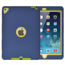 Shockproof Silicone Case for iPad Pro 9.7/iPad 6/Air 2 Kids Safe Armor Heavy Duty Rubber Hard Back Cover Screen Protector Film