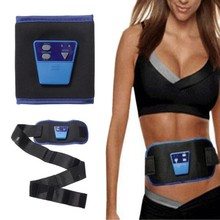 2017 New Ab Gymnic Electronic Slimming Belt Massager Fitness Front Muscle Arm Leg Waist Abdominal Health Care Body Sculpting