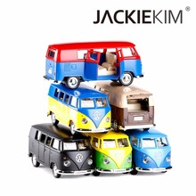 High Simulation Exquisite Model Toys RMZ City Car Styling Volkswagen Van T1 Retro Print Bus Alloy Car Model Excellent Gifts