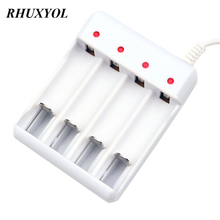 Mini USB Charger 1.2V AA AAA NiMH Battery Charger 4 slots NICD NIMH AA AAA 2A 3A Cell Battery Charger(China)