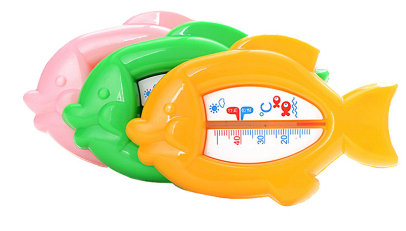 Cute Design Fish Shape Mini Baby Bath Thermometers Bath Available Temperature 10-50 Celsius Mni Home Scale Thermometers