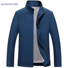 Mu Yuan Yang Spring and Autumn 50% off Men' s Jackets New Arrivals Business Casual Mens Jackets And Coats Zipper Jacket XXXL XXL(China)