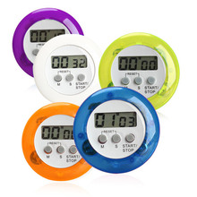 Candy Color Magnetic LCD Digital Kitchen Countdown Timer Alarm with Stand Kitchen Timer Practical Cooking Timer Alarm Clock(China)