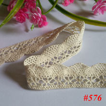 20 yard beige lace cotton lace lace clothing accessories Curtain Decoration Materials diy Specification more COTTON LACE NO576