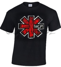 RHCP Red Hot Chili Peppers T-shirt 100% Cotton Black(China)