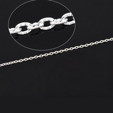Buy DoreenBeads 10M silver color Textured Cable Link Chain 3mm x 2mm, B14897 for $2.16 in AliExpress store