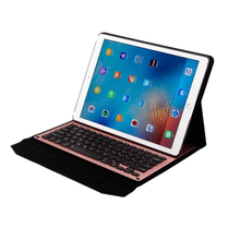 Removable Bluetooth Backlight Aluminum Keyboard + Synthetic PU Leather Case For iPad Pro 12.9 2017