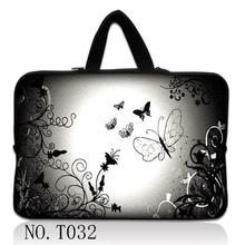 Silver Butterfly Neoprene Laptop Bag For Notebook Netbook Sleeve Cases Tablet Pouch For 7 10 12 13 13.3 15 15.6 17 inch Computer(China)