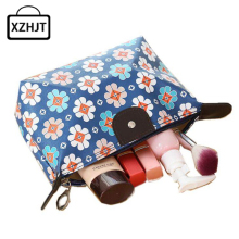 Fashion Women Cosmetic Bag Animal Duck Flower Large Travel Lady Makeup Bag PU Leather Toiletry Organizer Make Up Bag
