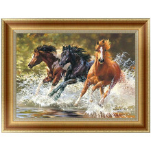 5D Horse Diamond Embroidery Painting Cross Stitch DIY Art Craft Home Decor 42*30cm -Y102(China)