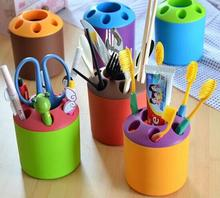 1PCS Multifunctional 6 Holes Plastic Toothbrush Pens Pencil knife and fork Holder Container Tube Bracket Cups Bathroom Products