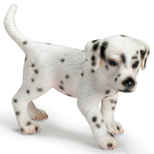 Original genuine farm animal pets model little dalmatian dog figures collectible figurine kids educational toys children