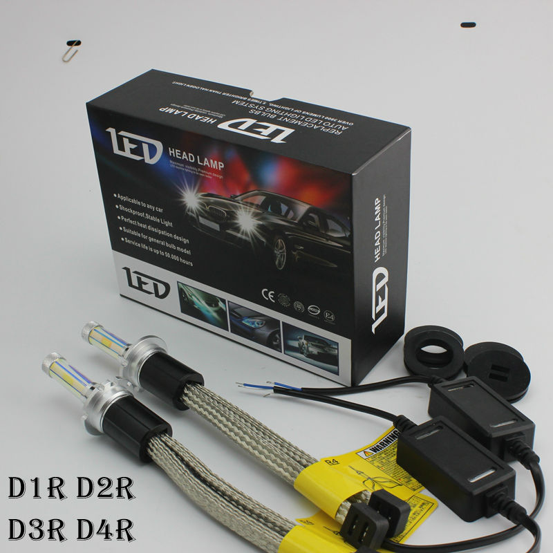 Ossen R4 D1R D2R D3R D4R LED Headlight Bulbs 30w 3600lm Headlamp Yellow 3000k 4300k 6000k 8000k D1S D3S D4S D2S Fog Lamps<br><br>Aliexpress