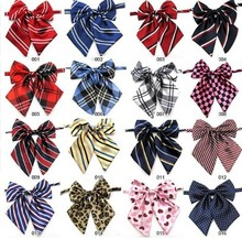 100pc/lot New Colorful Handmade Adjustable Large Dog Neckties Large Bow ties Pet Bow Ties Cat Neckties Dog Grooming Supplies L8(China)