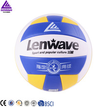 Free Shipping Official Size 5 Sand Beach Volleyball Ball Lenwave Brand Outdoor Indoor Sports Training Volley Ball(China)