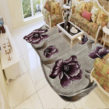 Alpine Flower Carpet Large Size Modern Simple European Living Room Coffee Table Sofa Study Room Carpet Bedroom Bedside Blanket(China)