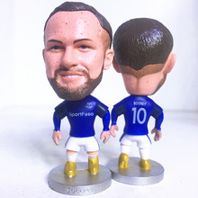 Soccerwe Fixed Base 10 Wayne Rooney Doll ( Everton 2018 Season) Blue Kit Gift(China)
