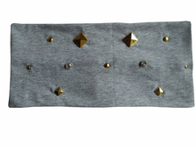 p17243 new Good stretch 100% cotton star spike / RIVET stud headbands for women  fashion  hair accessories custom headband