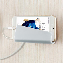 Creative Home Mobile Phone Wall Charger Adapter Charging Holder Hanging Stand Bracket Support Charge Hanger Rack(China)