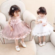 Baby Girl Princess Dress Birthday Party Flower Kids Clothes Teenage Girls Clothing 2017 Evening Bridesmaide Dresses For Weddings