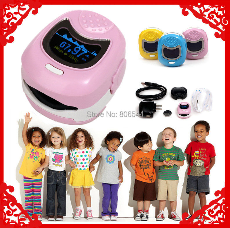 Color OLED Fingertip Pediatric Pulse Oximeter for Children for Child - Spo2 Monitor Kids blood oxygen WW-9S<br>