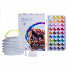MEEDEN 36 Watercolour Paint Set with A4 Watercolour Pad , Water Brush , Brush Washer Pot ,Sponge for School Students Kids