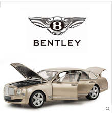 Bentley Mulsanne 1:18 Car model Simulation alloy car models rastar Toy Boy Limousine Static Cars Gift Collectables free shipping