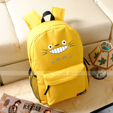 Free shipping Tonari no Totoro cos Cartoon Totoro logo printing College schoolbags birthday presentcanvas Shoulders backpack
