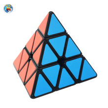 Shengshou Aurora Pyraminx(PVC Sticker) 3x3x3 Magic Cube Black/White Stickers Puzzle Pyramid Special Toys For Children