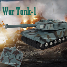 Mini RC Tank Toys With LED Light Music Remote Control Battle Fight Tanks Model Outdoors Shoot Robot RC Toys for Children Gifts(China)