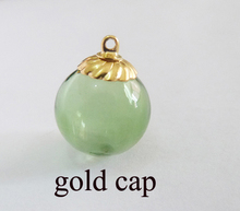 5x18mm new arrvial green color glass globe bottle & end top cap for diy jewelry earring materials-- cap colors option