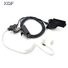Covert Acoustic Tube Earpiece Headset Mic for Motorola Walkie Talkie Radios Ht1000 Ht2000 Jt1000 Radio Security Door Supervisor