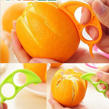WOFO Mandarin Orange Peeler Parer Finger Type Cleverly Open Orange Peel Orange Device Kitchen Gadgets Cooking Tools Random Color(China)