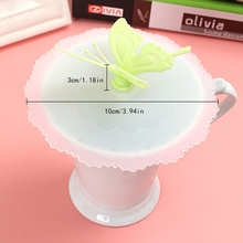 Butterfly Silicone Airtight Sealed Cup Cover Lid Cap Coffee Leakproof drinking leakage-proof Cute Cup Lid Home Kit