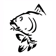 9.9*13.2CM Funny Fish Window Decorative Decals Classic Fashion Accessories Car Sticker Black/Silver C6-1303