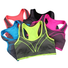 ROPALIA 2017 Women Top Bra Vest Shockproof Fitness Bralette Workout Full Support Seamless Bra Stretch Cotton Soft Full Cup Bra(China)