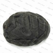 Mens Toupee 8x10 inch Undetectable PU and Mono Lace Thin Skin Men Hair Pieces Replacement Systems H010
