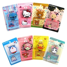 Retractable Silicone Card Holder Bus ID Certificates Bank Credit Picture Holders Cute Kawaii Cartoon Resin Cards Package(China)