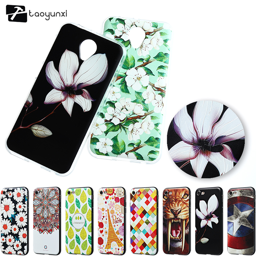 Relief Soft TPU Phone Cases For Vodafone Smart Prime 7 VFD600 VF600 E Smart Prime7 5.0 inch Covers Bags Back Silicone Case(China)