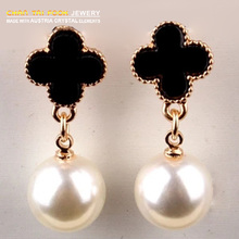 IREACESS Free Shipping new cheap Fashion accessories cutout large pearl gold Stud earrings for women