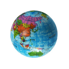 Cute Mini Foam World Globe Teach Education Earth Atlas Geography Toy Map Elastic Ball Model Figurines Ornaments Crafts 7.5cm(China)