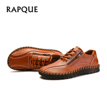 Buy Men shoes leather summer sneakers male shoes adult casual lows mens footwear Flats Walking Wide head shoes 38-50 drop for $34.02 in AliExpress store