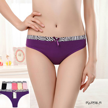Buy 5color Cotton lace Women's Sexy Thongs G-string Underwear Panties Briefs Ladies T-back bikini lingerie 6pcs/lot 87315